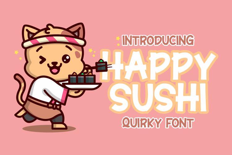 Happy Sushi Font