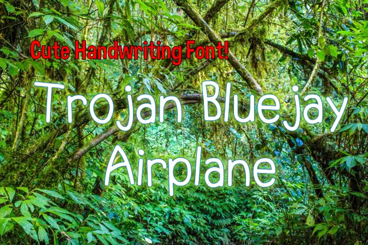 Trojan Bluejay Airplane Font