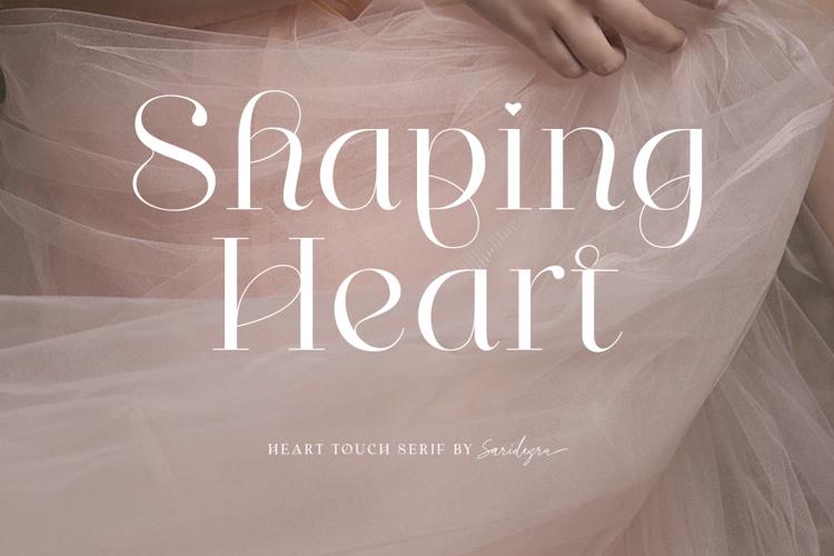 Shaping Heart Font