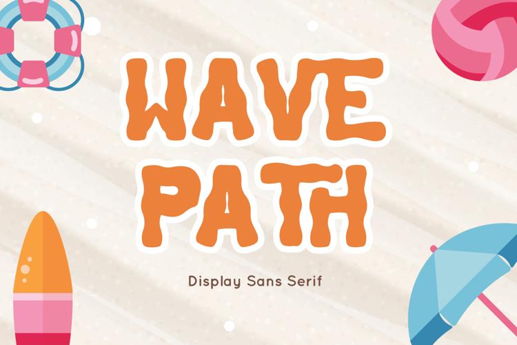 Wave Path Font