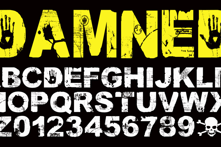DAMNED Font