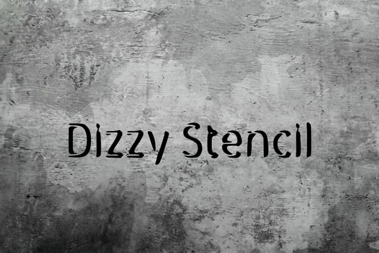 d Dizzy Stencil Font