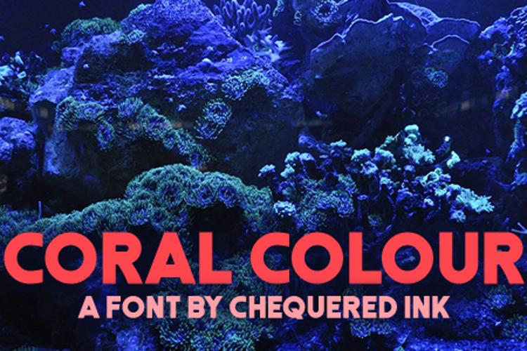 Coral Colour Font