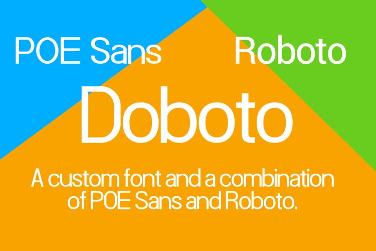 Doboto Font