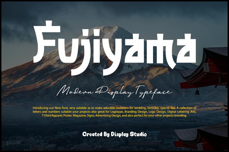 Fujiyama Font