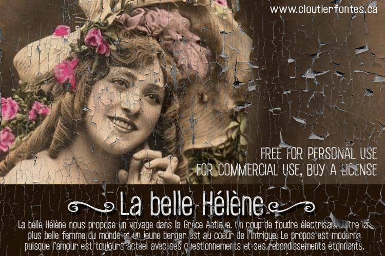 CF La belle Helene P Font