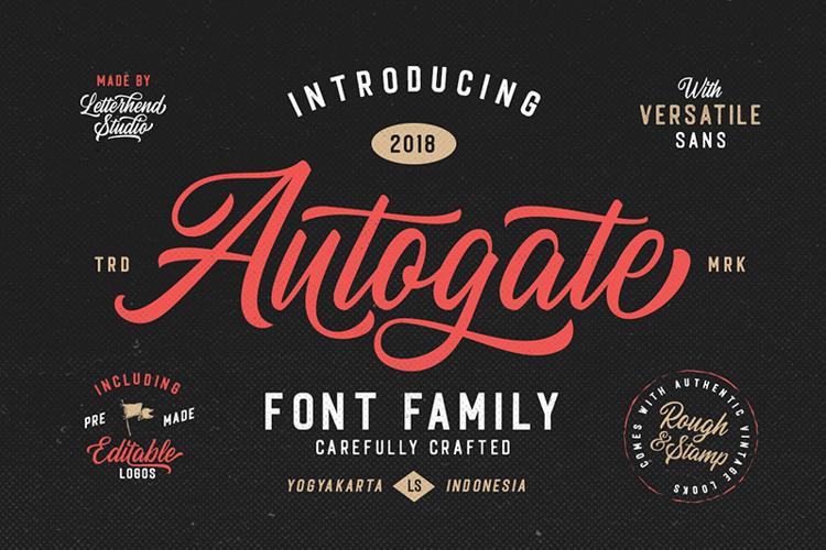 Autogate DEMO Font