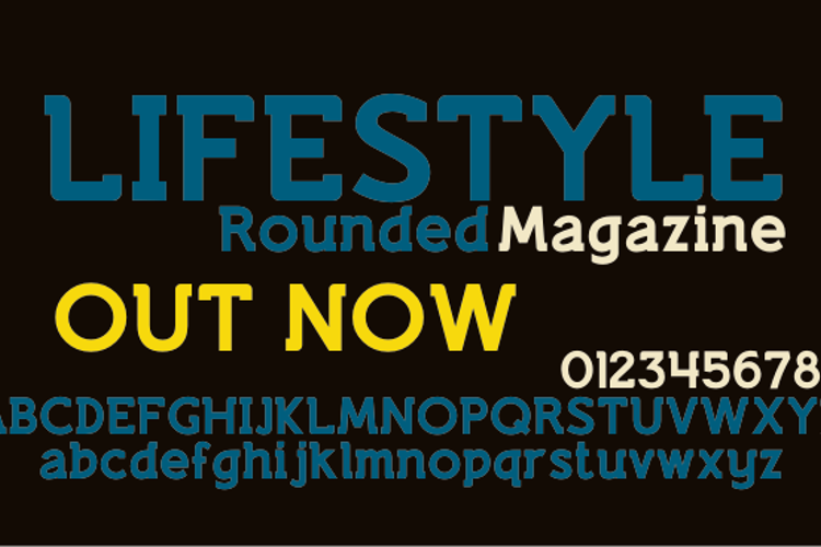 Lifestyle Rounded M54 Font