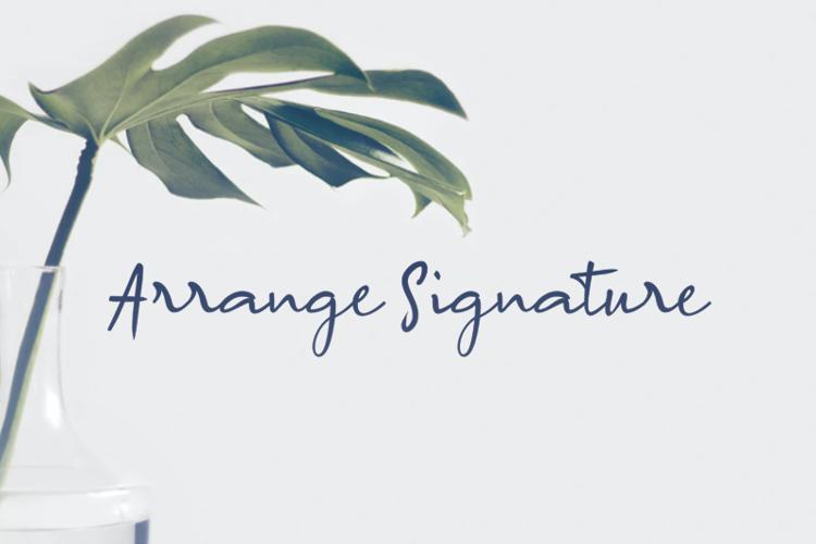 a Arrange Signature Font