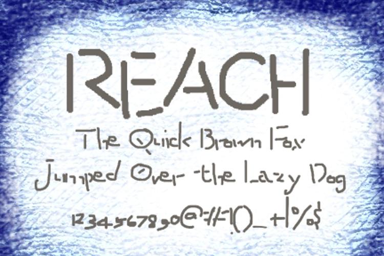 Reach Font