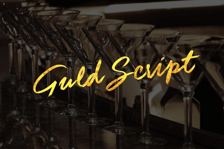 Guld Script Color Font