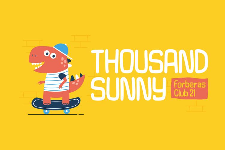 Thousand Sunny Font