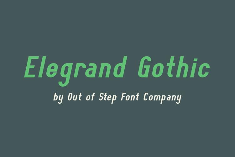 Elegrand Gothic Font