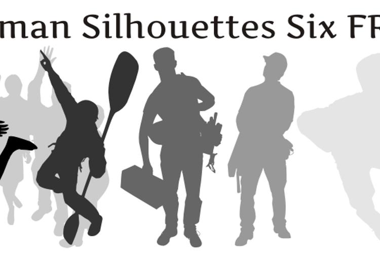 Human Silhouettes Free Six Font