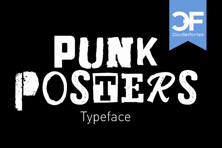 CF Punk Posters Font