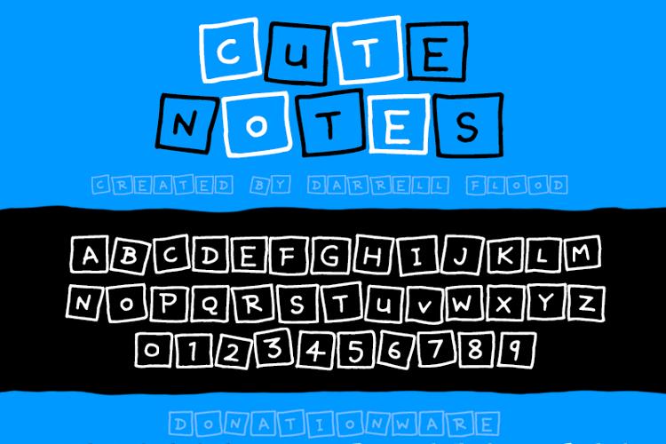 Cute Notes Font