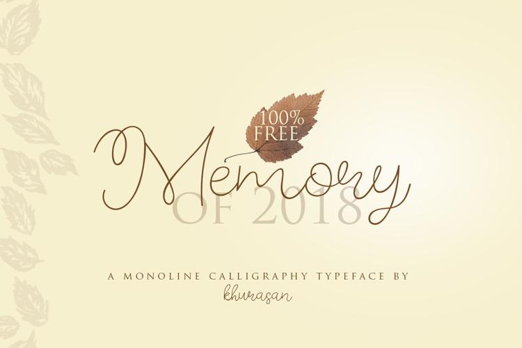 Memory of 2018 Font