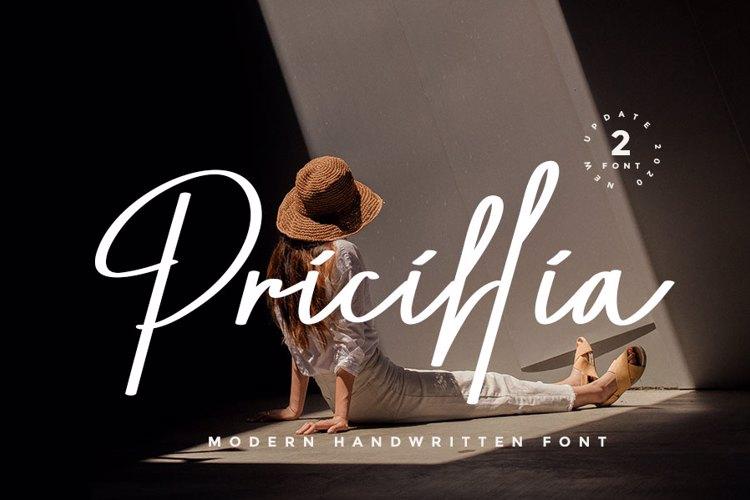 Pricillia Font
