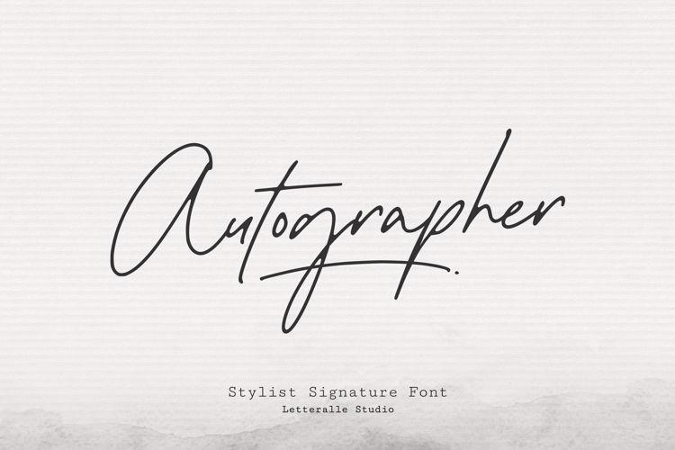 Autographer Font