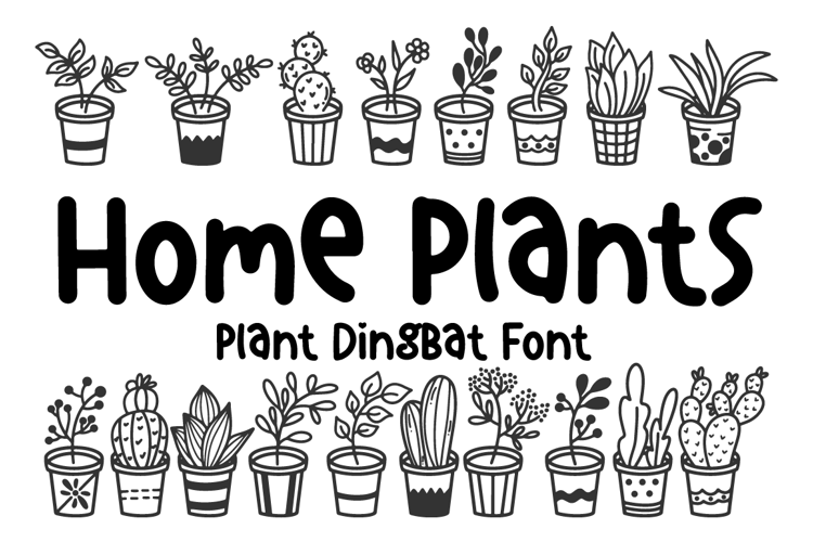 Home Plants Font