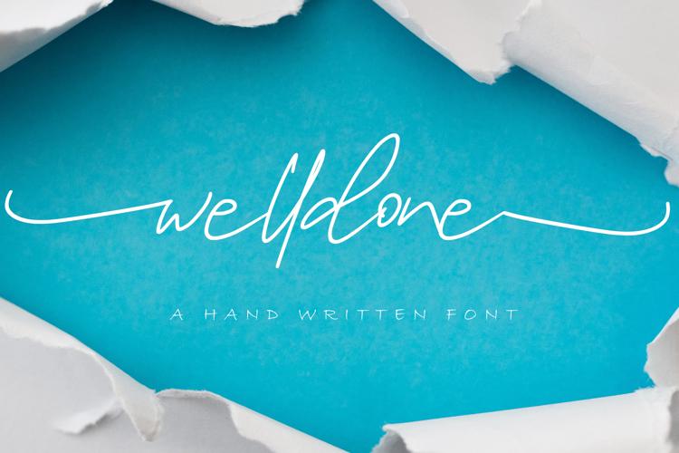 Welldone Special Font