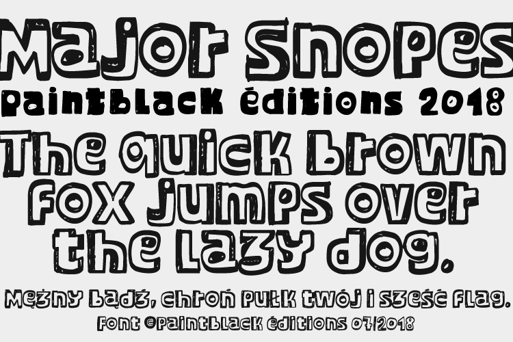 Major Snopes Font