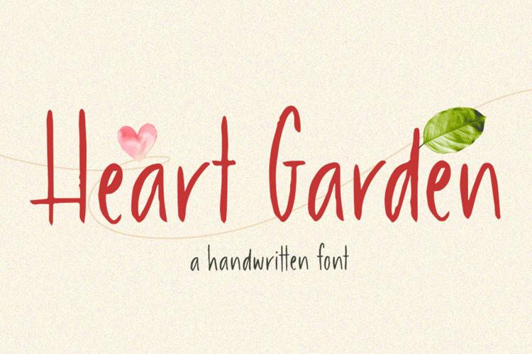 Heart Garden Garden Font