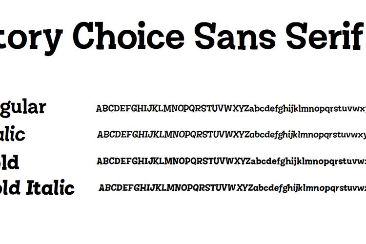 Story Choice Sans Serif Font