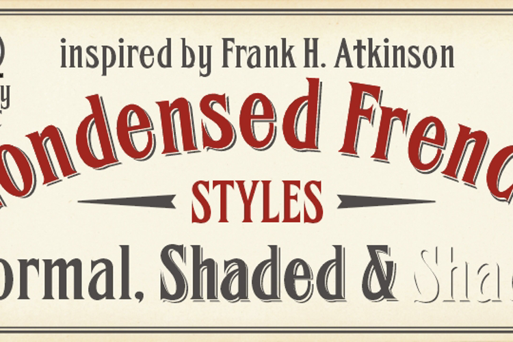 FHA Condensed French  Font