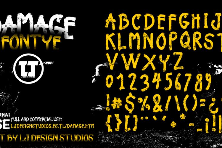 Damage Font