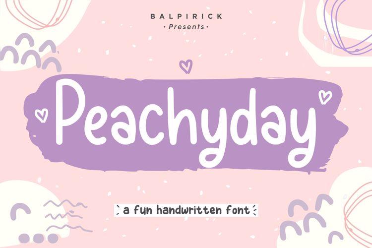 Peachyday Font