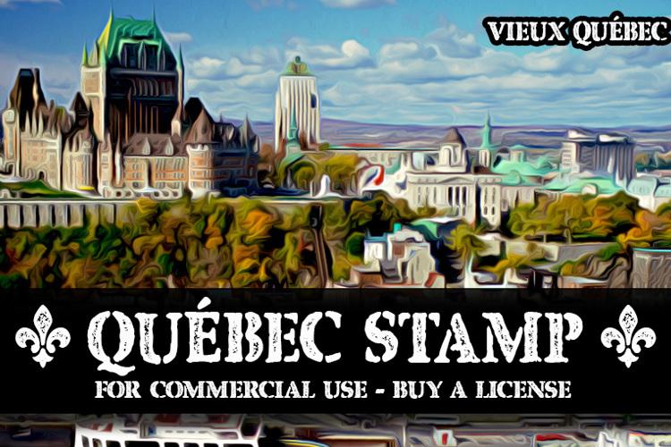 CF Quebec Stamp Font