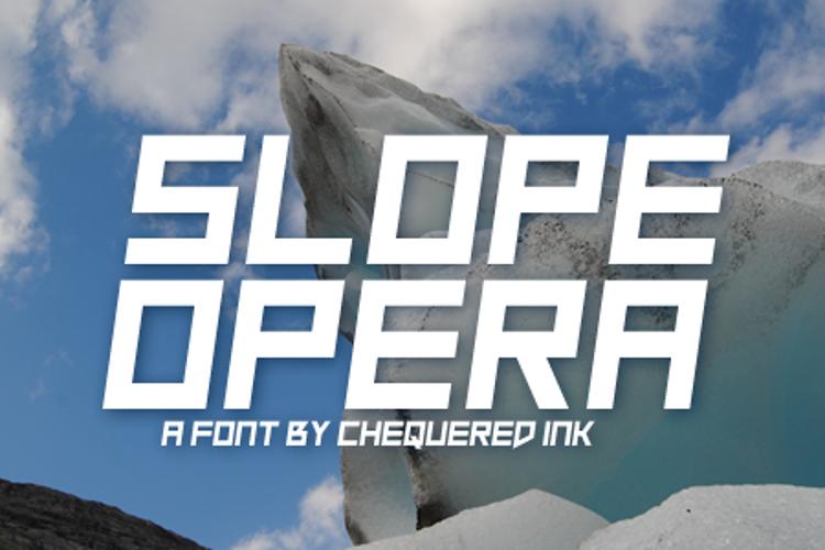 Slope Opera Font