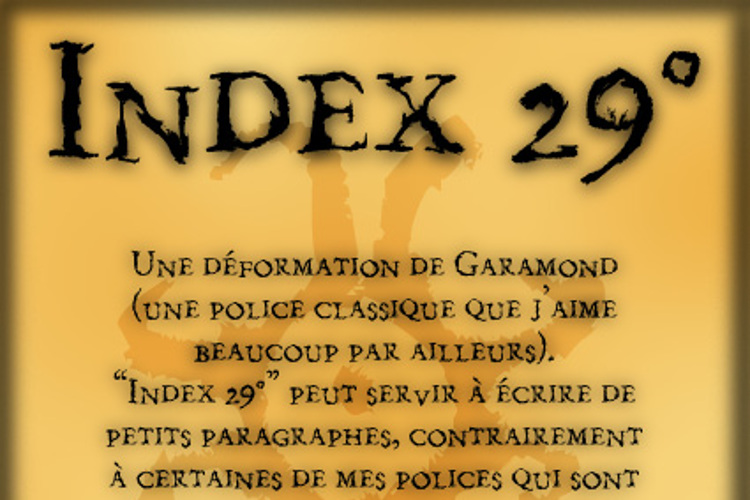 Index 29° Font