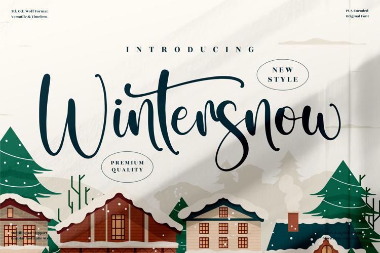 Wintersnow Font