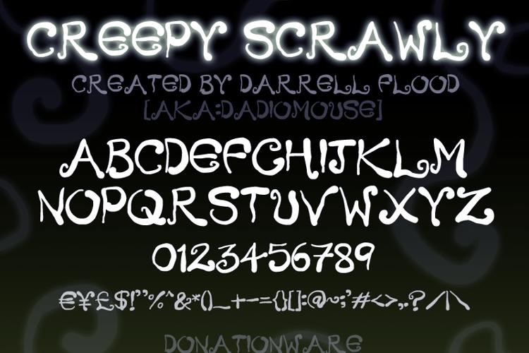 Creepy Scrawly Font