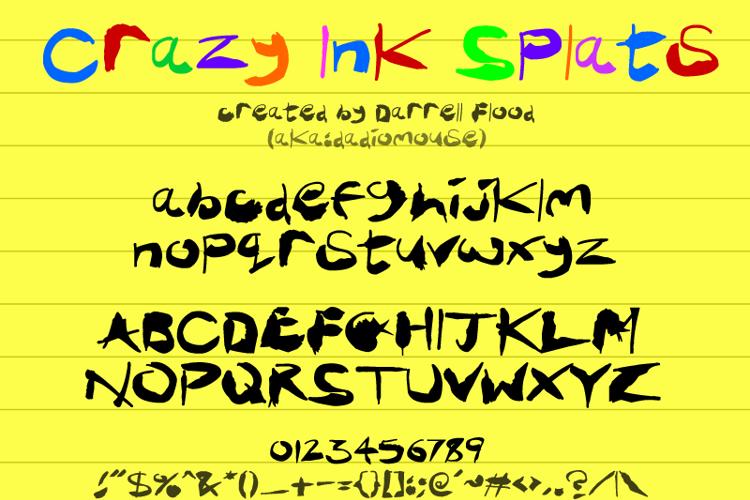 Crazy Ink Splats Font