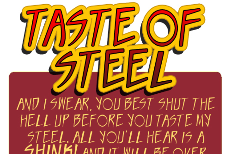 Taste of steel Font