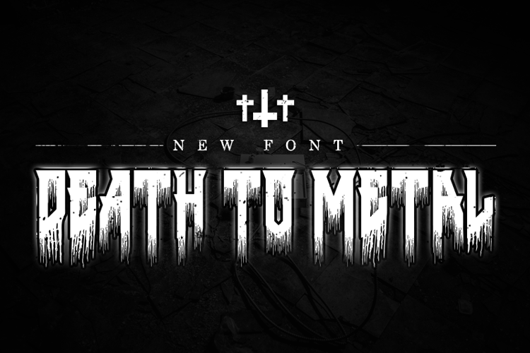 Death to Metal Font