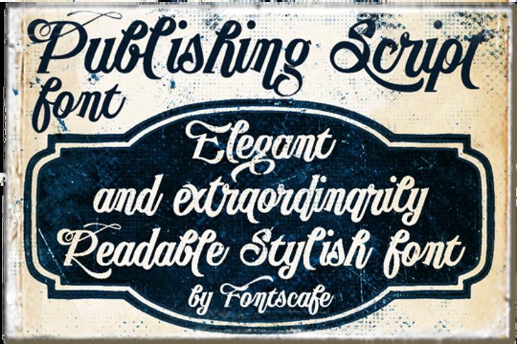 Publishing Script Font