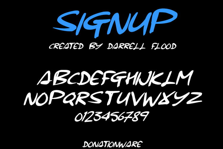 Signup Font