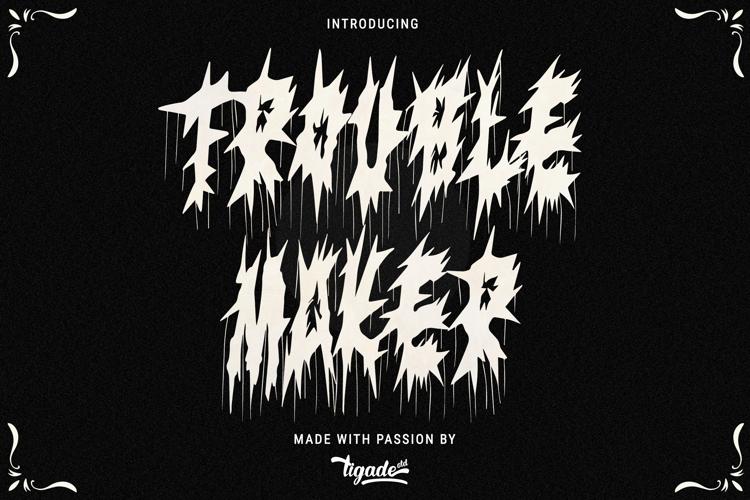 Trouble Maker Font