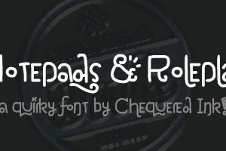 Notepads & Roleplay Font