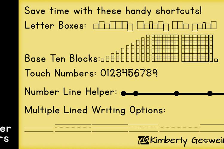 KG Teacher Helpers Font