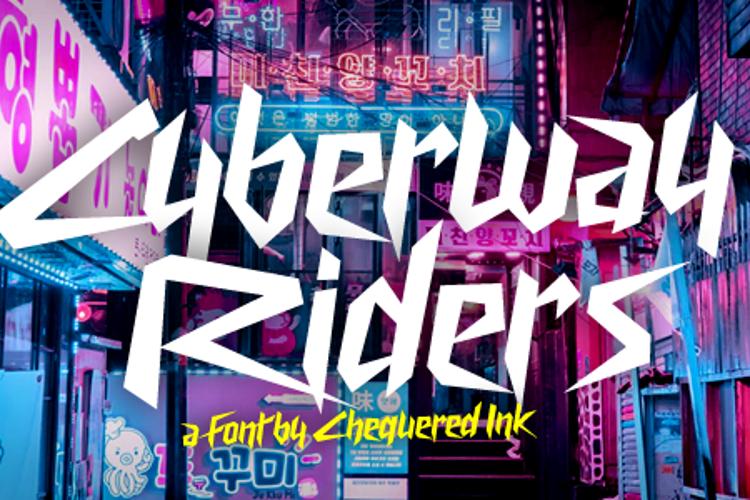 Cyberway Riders Font
