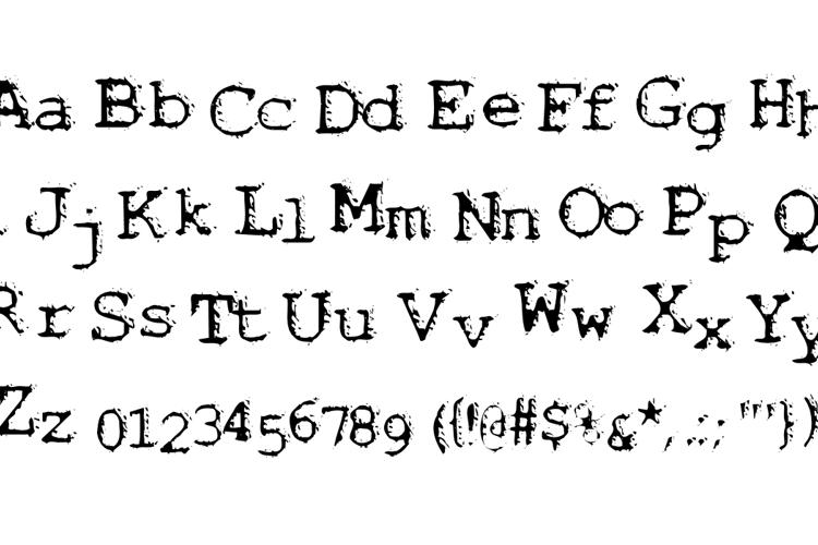 Noisebaby Font