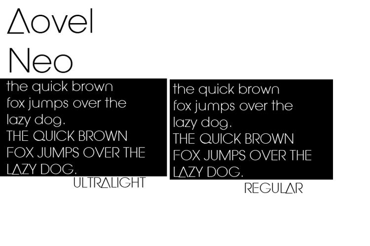Aovel Neo Font
