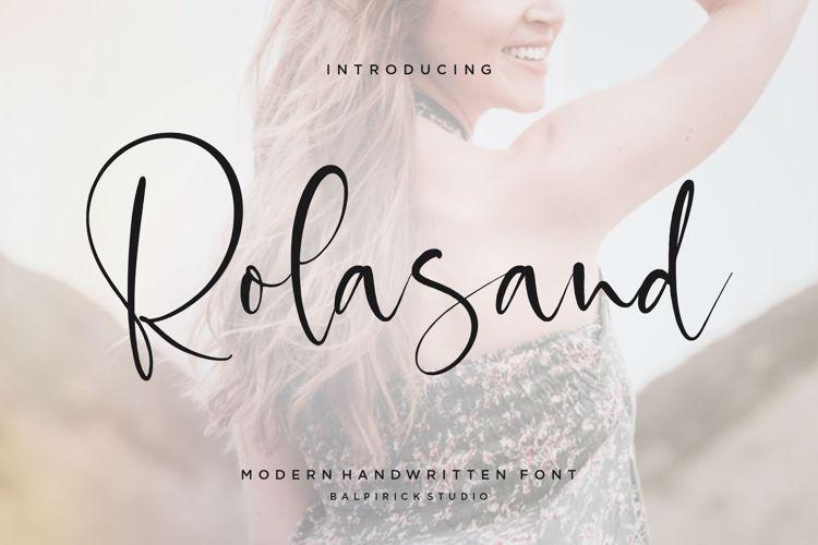 Rolasand Font