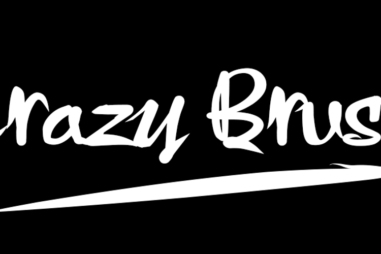 Crazy Brush Font