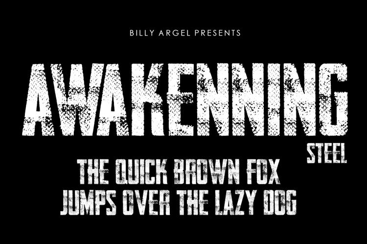 AWAKENNING STEEL Font
